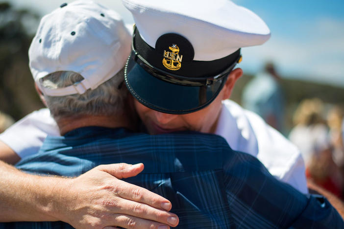 Veterans Hugging